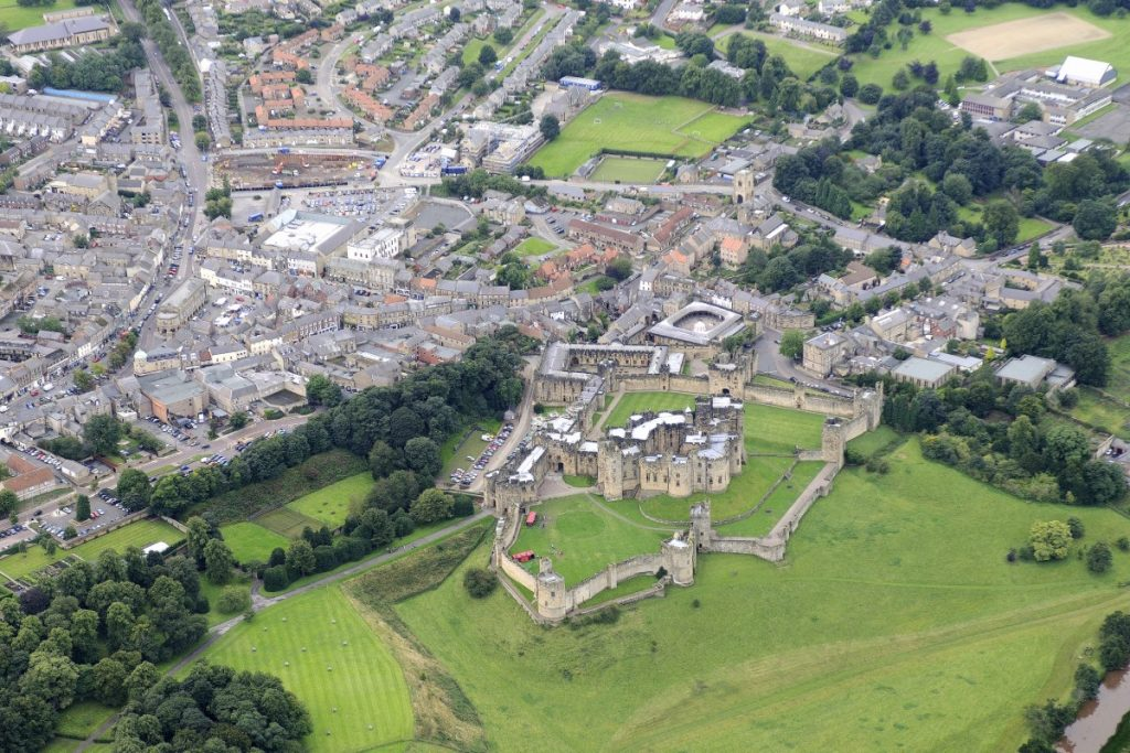 Alnwick Castle Aerial View