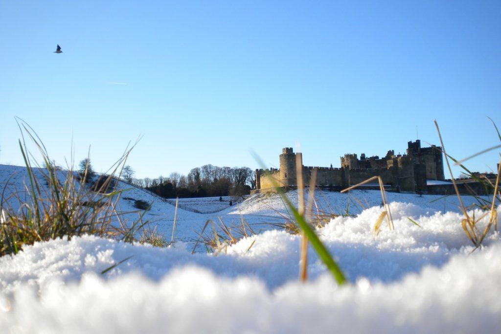 Alnwick Castle Winter Scene