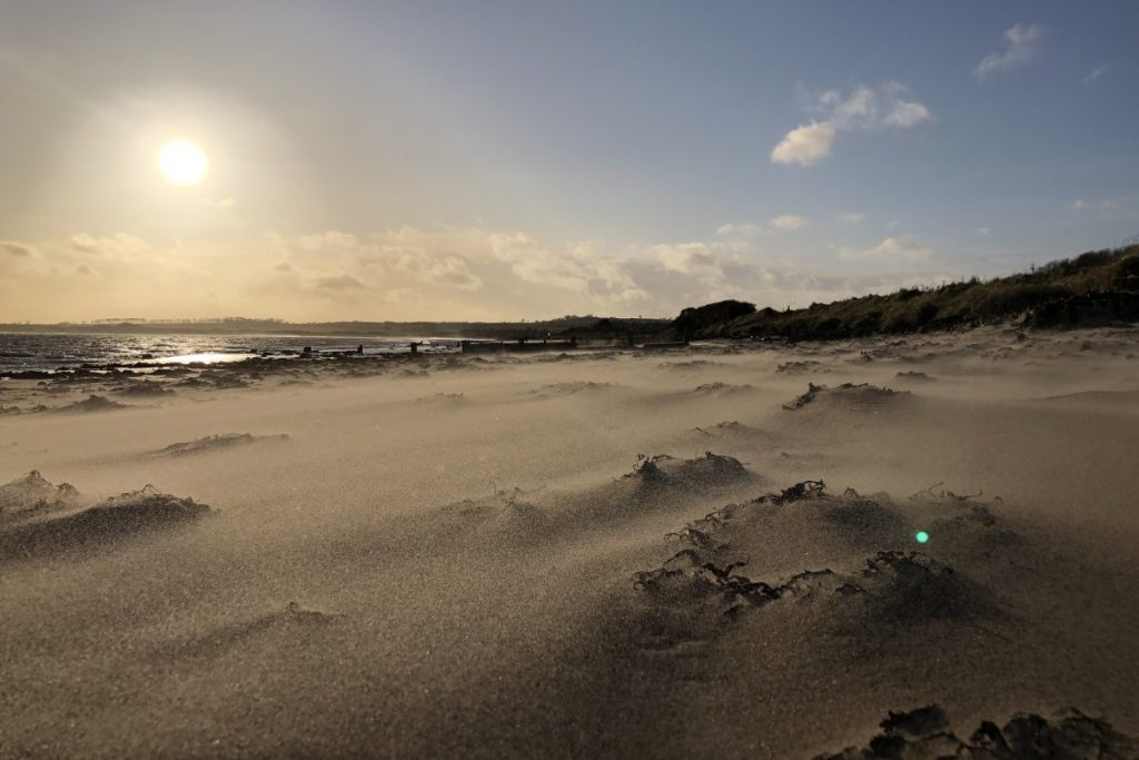 Things to do in Alnwick, watch the sunset from the beach