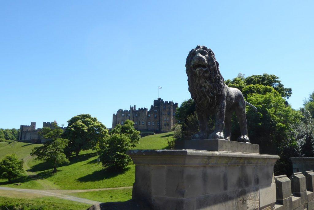 Alnwick Castle Lion Statue